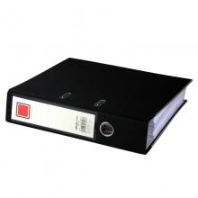 金得利(KINARY)CB1102 PVC半包胶档案夹 A4 3寸 黑色