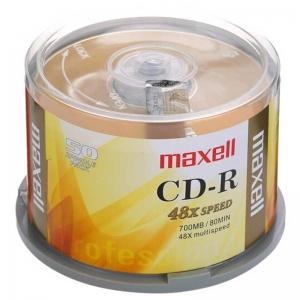 麦克赛尔(maxell)CD-R 48速700M 空白光盘/光盘/刻录光盘/光碟/碟片 商务金盘 桶装50片