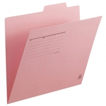 普乐士(PLUS)FL-061IF 单片夹/纸质索引夹/分类办公资料夹 A4横式 粉红 10个/包