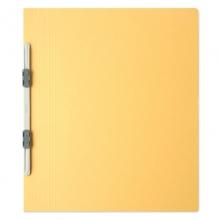 普乐士(PLUS)NO.021N 易装双孔夹/装订报告夹 A4-E/竖式 鹅黄 10个/包