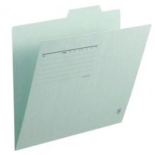 普乐士(PLUS)FL-061IF 单片夹/纸质索引夹/分类办公资料夹 A4横式 浅蓝 10个/包