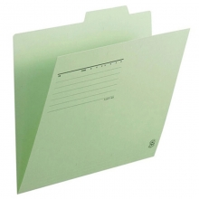 普乐士(PLUS)FL-061IF 单片夹/纸质索引夹/分类办公资料夹 A4横式 淡绿 10个/包
