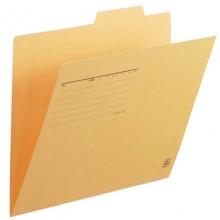 普乐士(PLUS)FL-061IF 单片夹/纸质索引夹/分类办公资料夹 A4横式 鹅黄 10个/包