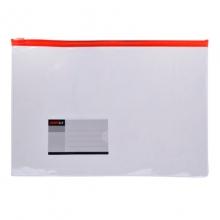 远生(USIGN)US-F56 透明拉链袋/文件袋 A4 20个/包 颜色随机