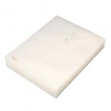易达(Esselte)700340 缠绳文件袋/档案袋/资料袋 A4 (31*25cm) 透明白 12个/包