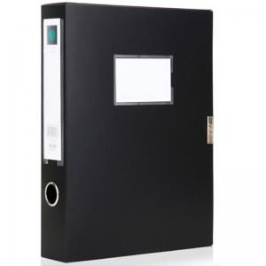 得力(DELI)5603 粘扣档案盒/资料盒/文件盒 A4 55MM 黑色