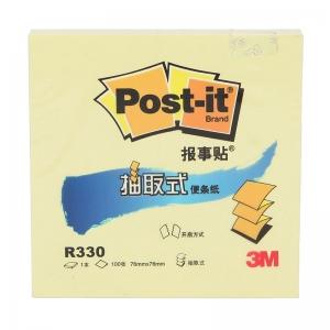 3M(3M)R330 抽取式便条纸/报事贴 76*76mm 黄色 12本/包