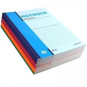 何如(HOTROCK)N1060 无线胶装笔记本/记事本 A5-60页 混色 10本装
