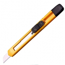 得力(deli)2051 小号塑壳美工刀/裁纸刀/壁纸刀 9mm
