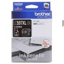 兄弟(brother)LC597XL BK 高容黑色墨盒(适用机型兄弟MFC-J2510)