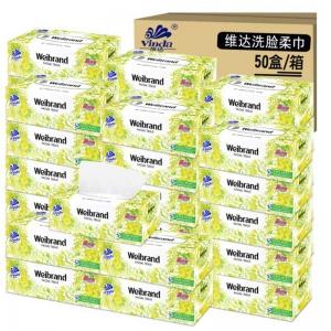 维达(Vinda)威牌V2002 纸盒装面巾纸/抽纸 100抽*5盒*10提/箱