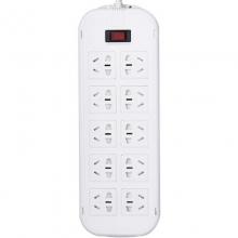 突破(TOP)T1KT 新国际电源插座/插线板/保镖三合一开关接线板 10A 十位总控 5米