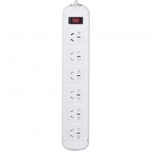 突破(TOP)T1K6 新国际电源插座/插线板/接线板 10A 六位总控 5米