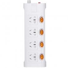 突破(TOP)TZ-D4K4 过载保护 插线板/电源插座  四位单控 3米