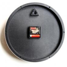 得力(deli)9005 挂钟/石英钟表/静音时钟/卧室圆形挂表 12寸 30cm 白色
