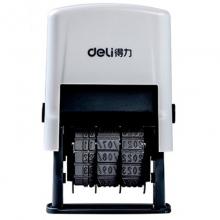 得力(deli)77303 日期转轮回墨印章 可调时间印章 生产日期打码机 10位虚字日期印