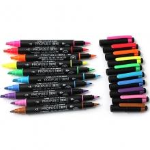 三菱(UNI)PUS-101T 双头荧光笔/标记笔/彩色绘画记号笔 黄色